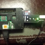 My 'bench' test run of the Pi with external USB sound board.
