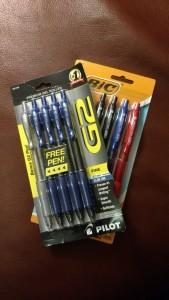 pilot gel pens