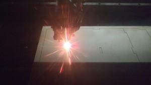 80w CO2 Laser in use