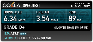 Speeds over tethered wifi with my Moto X